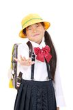 Portrait of Little asian schoolgirl Royalty Free Stock Photos