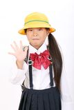 Portrait of little asian schoolgirl Royalty Free Stock Photo
