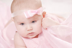 Portrait of a little baby Royalty Free Stock Images