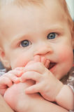 Portrait of little baby Stock Images