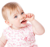 Portrait of little baby girl Royalty Free Stock Image