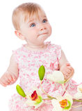 Portrait of little baby girl Stock Photo