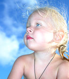 Portrait of a little baby girl Stock Images