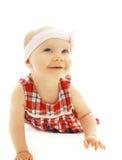 Portrait of little baby girl crawls Stock Photos