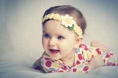 Portrait of a little beautiful baby Royalty Free Stock Images