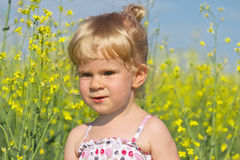 Portrait of a little beautiful blonde girl Stock Photo