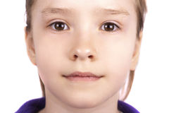 Portrait of little beautiful girl close up Royalty Free Stock Photos