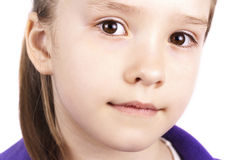 Portrait of little beautiful girl close up Stock Images