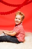 Portrait of little blond boy Royalty Free Stock Image