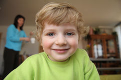 The portrait of the little blond boy Stock Photography