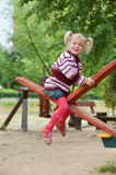 Portrait of a little blond girl on Royalty Free Stock Photography