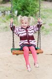 Portrait of a little blond girl on Stock Photos