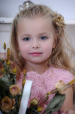 Portrait of a little blond girl Royalty Free Stock Image