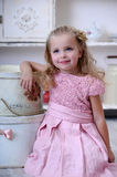 Portrait of a little blond girl Royalty Free Stock Photo