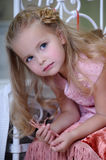 Portrait of a little blond girl Royalty Free Stock Images