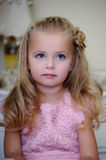 Portrait of a little blond girl Royalty Free Stock Photography