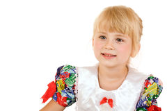 Portrait of little blonde girl Stock Images