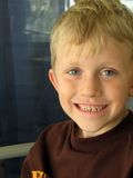 Portrait of a Little Boy. Portrait of a seven years old blond boy royalty free stock photo