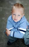 Portrait of little boy. With blue eyes Stock Image