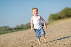 Portrait of a little boy on the beach Royalty Free Stock Photos