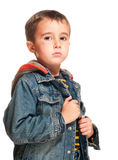 Portrait of little boy with black Royalty Free Stock Photography