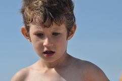 Portrait of a little boy. A child Royalty Free Stock Images