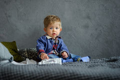 Portrait of the little boy. Royalty Free Stock Image