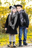 Portrait of little boy and girl Royalty Free Stock Photos