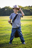 Portrait of a little boy with guitar Royalty Free Stock Image