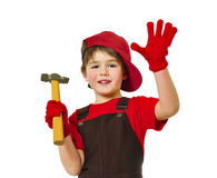 Little carpenter Stock Photo