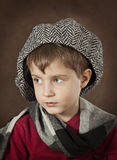 Portrait of a little boy in a hat Royalty Free Stock Image