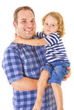 The portrait of a little boy and his father Stock Photography