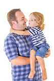 Portrait of a little boy and his father Royalty Free Stock Image