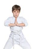 Portrait of a little boy in kimono Stock Images