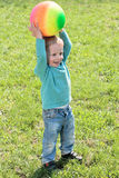 Portrait of little boy outdoors.  Royalty Free Stock Photography