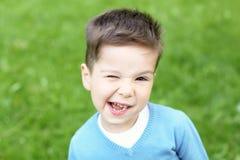 Portrait of a little boy outdoors Stock Image