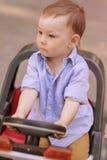 Portrait of Little Boy Outside in park Stock Image