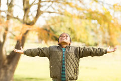 Portrait of a little boy with outstretched arms Stock Photography