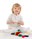 boy playing with a toys Stock Photo