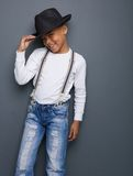 Portrait of a little boy smiling with hat Stock Photos