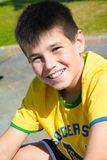 Portrait of little boy smiling under the sun Stock Photography