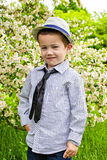 Portrait of  little boy in spring Royalty Free Stock Photography