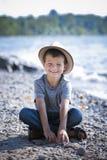 Portrait of a little boy wearing hat Royalty Free Stock Photo
