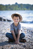 Portrait of a little boy wearing hat Royalty Free Stock Photography