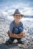 Portrait of a little boy wearing hat Stock Photo