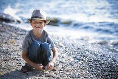 Portrait of a little boy wearing hat Stock Photos