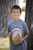 Portrait of a little boy wearing hat Royalty Free Stock Photo