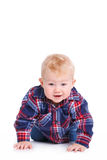 Portrait of a little boy on white background. Stock Photography