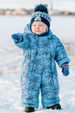 Portrait of little boy in winter Royalty Free Stock Photos