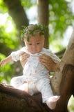 Portrait of little boy with wreath. Portrait of little baby boy with wreath Royalty Free Stock Image